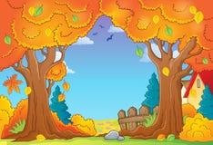 Composizione 1 in tema dell'albero di autunno Fotografie Stock