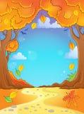 Composizione 2 in tema dell'albero di autunno Fotografia Stock