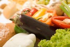 Composizione 5 nel particolare delle derrate alimentari Immagine Stock