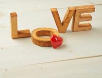 Composizione in amore di parola Immagine Stock