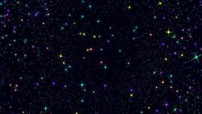 Composizione animata astratta su un fondo scuro archivi video