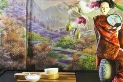 Composizione asiatica in bellezza fotografia stock