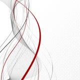 Composizione astratta bianca nel fondo Fotografia Stock