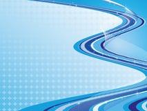 Composizione astratta blu Fotografia Stock Libera da Diritti