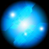 Composizione astratta blu Fotografie Stock Libere da Diritti