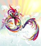 Composizione astratta in colore Immagini Stock