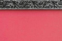 Composizione astratta con la struttura di superficie e grigia rosa del fondo con il modello Immagine Stock Libera da Diritti