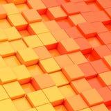 Composizione astratta dei blocchetti del cubo Fotografie Stock