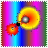composizione astratta in Disorientato-colore Fotografie Stock