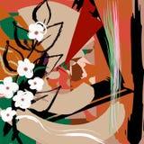 Composizione astratta, fiori bianchi, Fotografia Stock