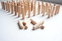 Composizione astratta nei blocchi di legno fotografia stock