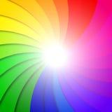 Composizione astratta nel fondo dell'arcobaleno Fotografia Stock Libera da Diritti