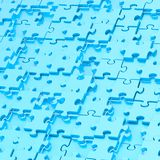 Composizione astratta nel fondo di puzzle Immagine Stock Libera da Diritti
