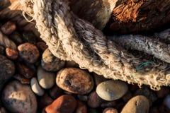 Composizione astratta nella spiaggia immagine stock
