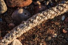 Composizione astratta nella spiaggia immagini stock libere da diritti