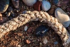 Composizione astratta nella spiaggia Fotografia Stock