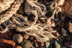 Composizione astratta nella spiaggia Fotografia Stock Libera da Diritti