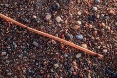 Composizione astratta nella spiaggia fotografie stock libere da diritti
