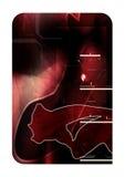 Composizione astratta rossa 3d Immagine Stock