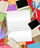 Composizione di carta nella posta Immagine Stock