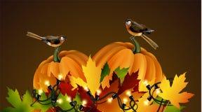 Composizione in autunno di vettore di ringraziamento Fotografie Stock Libere da Diritti