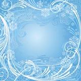 Composizione blu astratta in inverno Immagini Stock Libere da Diritti
