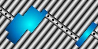 Composizione blu nel metallo Immagine Stock