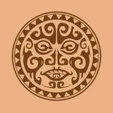 Composizione circolare degli ornamenti nello stile del maori Fotografia Stock