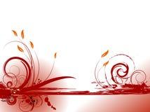 Composizione in colore rosso di Grunge Immagini Stock
