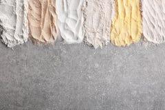 Composizione con differenti tipi di farine Immagine Stock Libera da Diritti