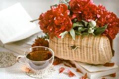 Composizione con i bei fiori freschi fotografia stock libera da diritti