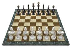 Composizione con i chessmen Immagini Stock Libere da Diritti