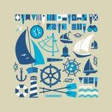 Composizione con i simboli di navigazione Immagini Stock Libere da Diritti