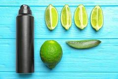 Composizione con il deodorante per gli uomini Immagine Stock