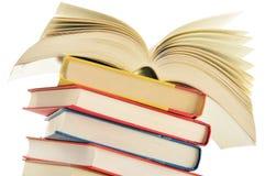 Composizione con la pila di libri Immagine Stock