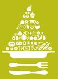 Composizione con la piramide di alimento Fotografia Stock Libera da Diritti