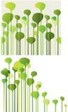 Composizione con le siluette dell'albero Fotografia Stock