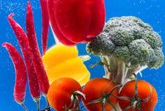 Composizione con le verdure organiche crude assortite Fotografie Stock Libere da Diritti