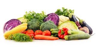 Composizione con varietà di verdure organiche crude fresche Immagine Stock Libera da Diritti
