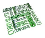 Composizione corporativa in parola Immagine Stock