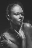 Composizione creativa sul corpo delle donne Fotografia Stock
