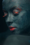 Composizione creativa sul corpo delle donne Fotografie Stock