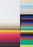 Composizione da un cartone varicoloured del progettista Immagini Stock
