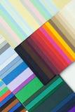 Composizione da un cartone varicoloured del progettista Fotografia Stock Libera da Diritti