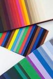 Composizione da un cartone varicoloured del progettista Immagine Stock