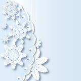 Composizione dai fiocchi di neve Immagini Stock