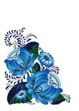 Composizione decorativa in ук del 'del ¾ ÐºÑ del ¡ Ð di Ð con i fiori blu illustrazione vettoriale