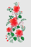 Composizione decorativa dai cuori Fotografie Stock