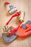 Composizione degli elementi degli idraulici Fotografia Stock