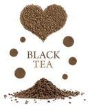 Composizione degli elementi del tè nero Fotografia Stock Libera da Diritti